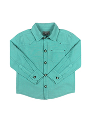 Рубашка для мальчика из ткани миткаль с джинсовым эффектом купить