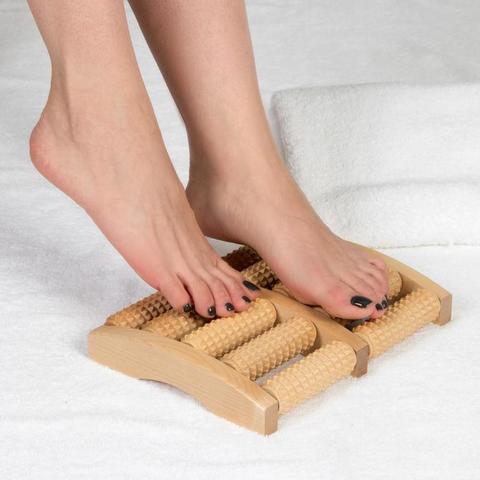Массажёр Счёты, деревянный, 5 рядов, большой