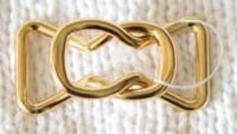 Застежки из двух деталей, цвет золотой