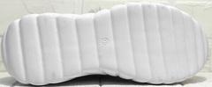 Женские летние кроссовки туфли с белой подошвой Wollen P029-259-02 All White.