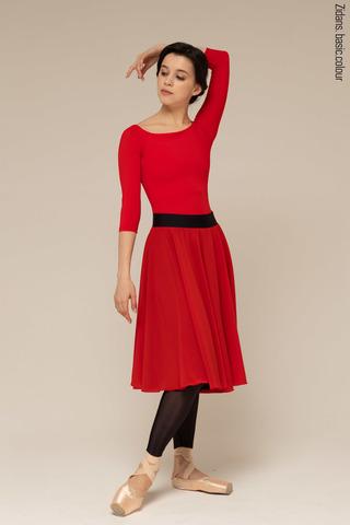 481632 two-sided rehearsal skirt | black-scarlet