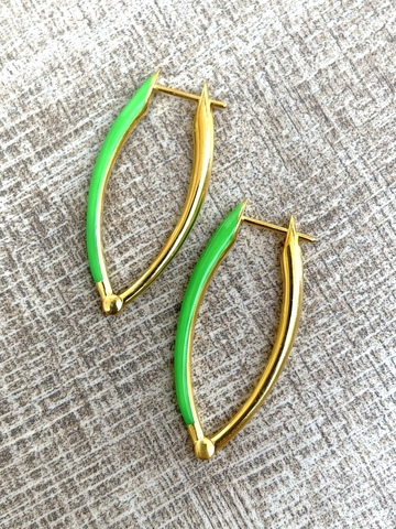 Серьги Мантисия, зеленые