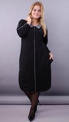 Орнелла. Стильна сукня для size plus. Чорний.