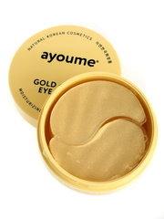 Гидрогелевые патчи для глаз Ayoume GOLD+SNAIL омолаживающие с золотом и улиточным муцином 60 шт