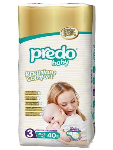 Predo. Подгузники Baby Двойная пачка № 3 (4-9 кг Midi), 40 шт.