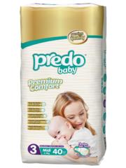 Predo. Подгузники Baby Двойная пачка № 3 (4-9 кг Midi), 40 шт. вид 1