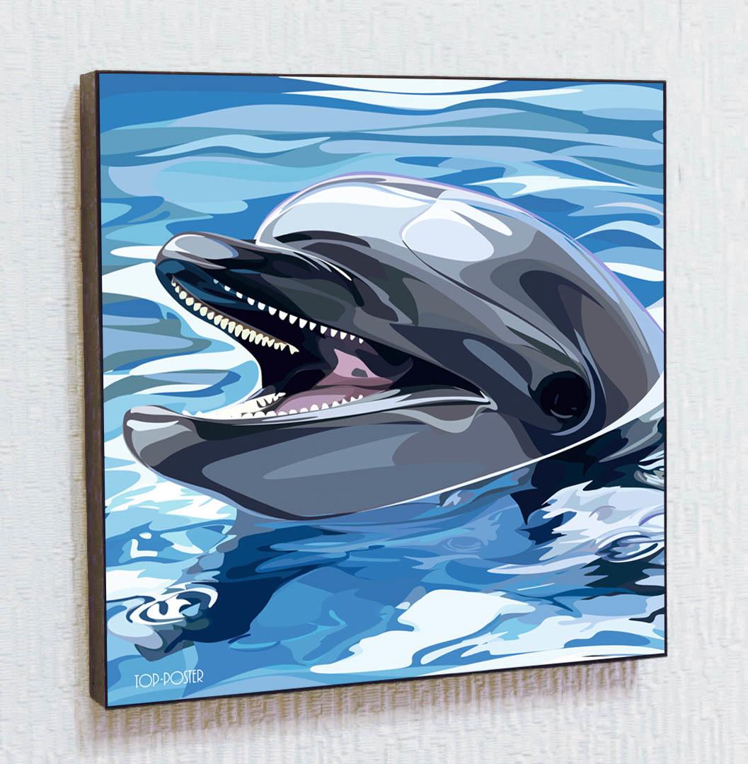 Дельфин Картина ПОП-АРТ портрет постер