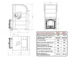 Печь Князь Калита (Дверка - Чугунная, с панорамным стеклом, облицовка - талькохлорит)