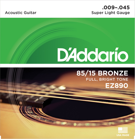 D`ADDARIO EZ890 SET ACOUS GTR 85/15 SUP LITE
