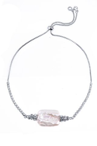 Браслет Aurora Metallo Crystal серебристый