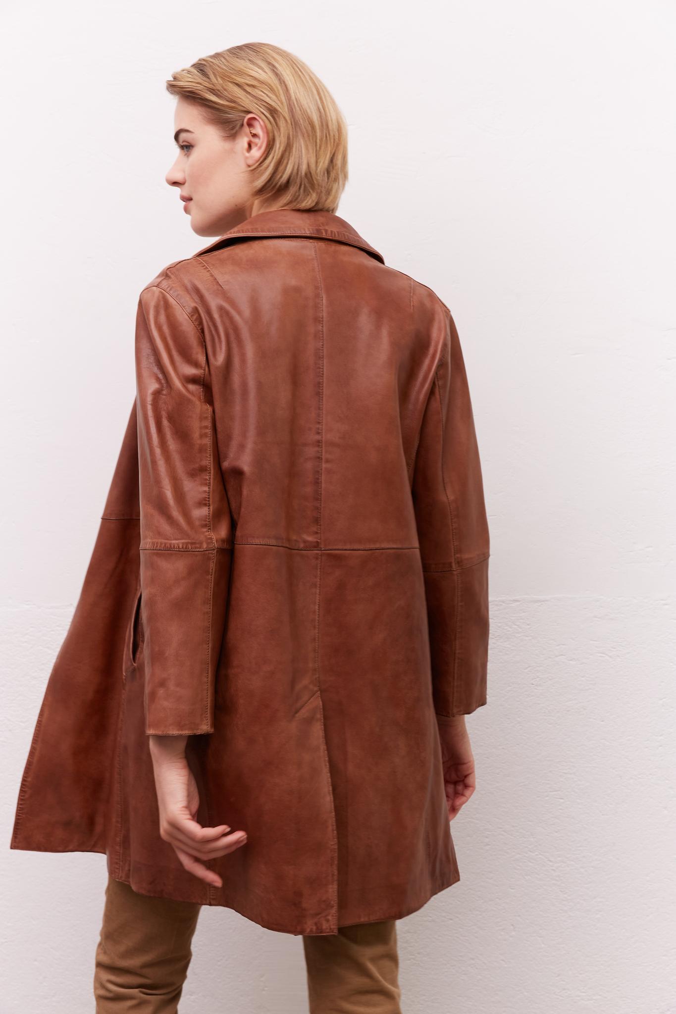MARILOU - Удлиненная кожаная куртка