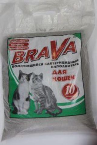 БРАВА (BRAVA) наполнитель Комкующийся 10 л