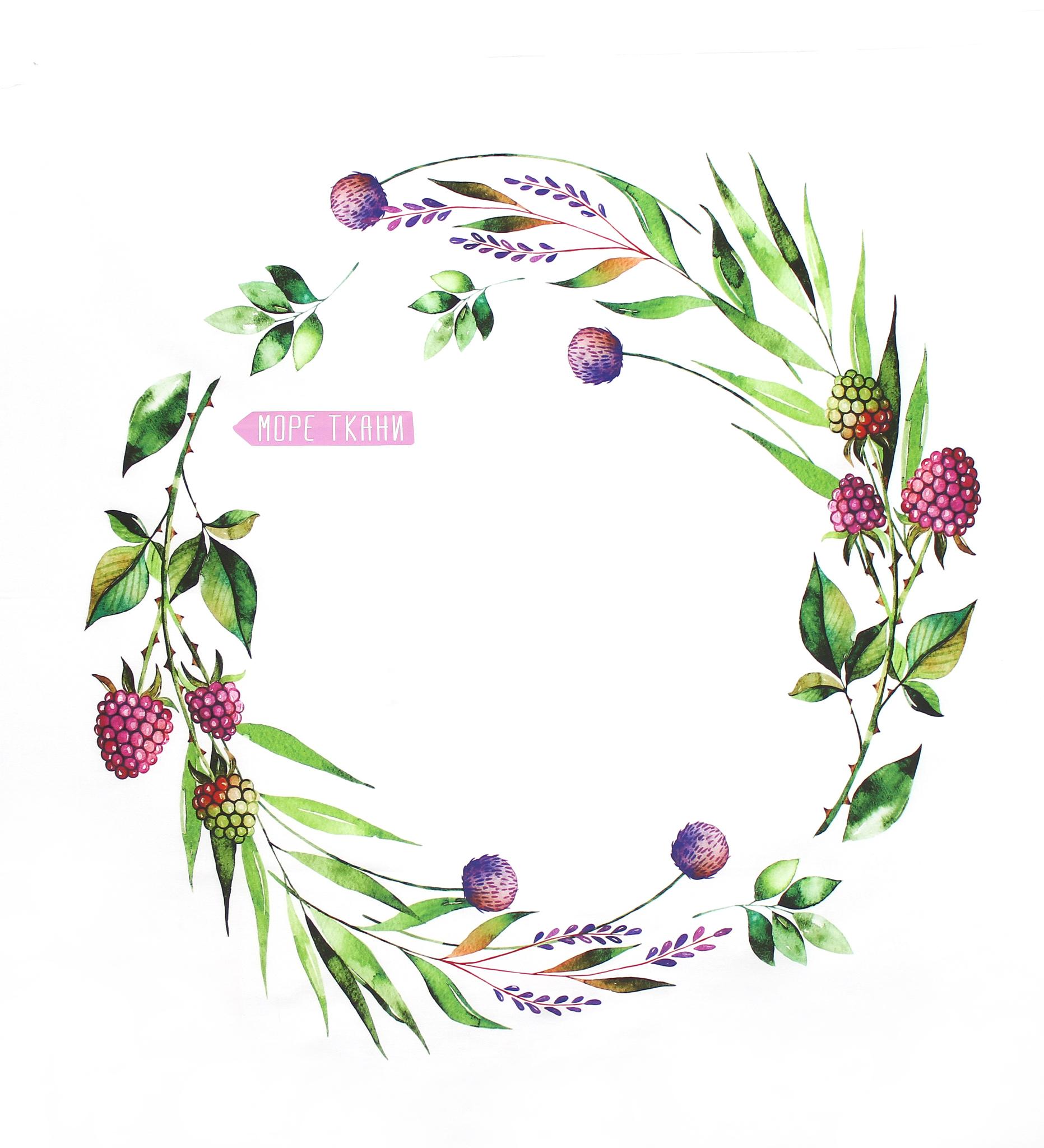 Панель(купон) цветы и виноград-80*80 см