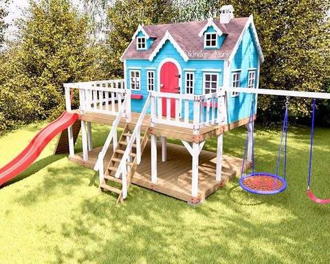 Детский деревянный домик Камилла