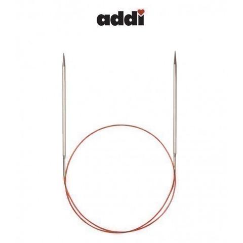 Спицы Addi круговые с удлиненным кончиком для тонкой пряжи 80 см, 5 мм