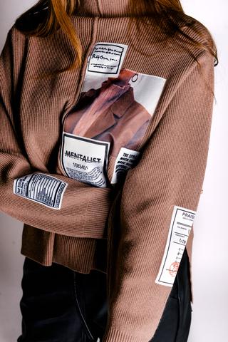 Коричневый свитер с горлом интернет магазин