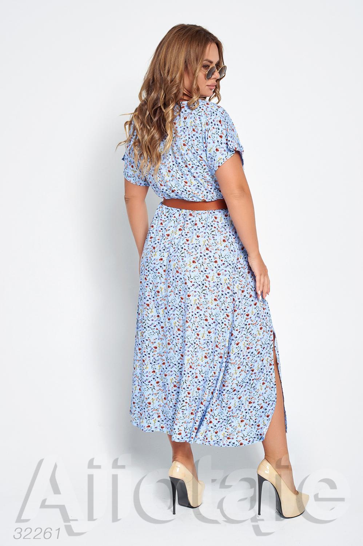 Нежное платье в принт мильфлер