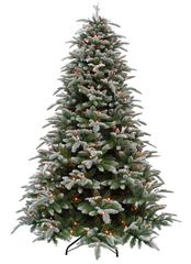 Triumph tree ель Нормандия пушистая (лампы) 2,60 м заснеженная