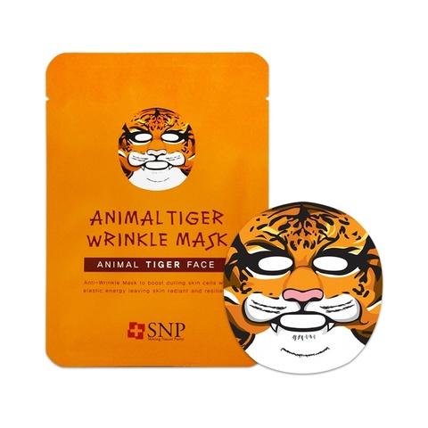 SNP Маска тканевая антивозрастная с рисунком тигра для лица ANIMAL TIGER WRINKLE MASK 1 шт