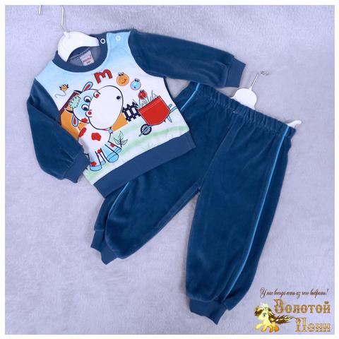 Костюм велюр детский (74-92) 210609-SH54089