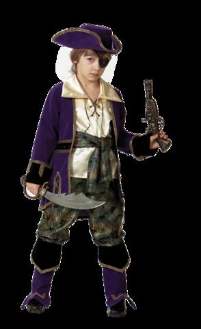 Карнавальный костюм Капитан Пиратов лиловый