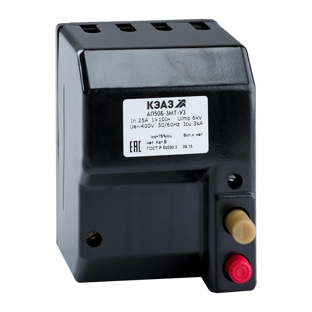 Выключатель автоматический АП50Б-3МТ-1,6А-10Iн-400AC-У3-КЭАЗ