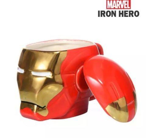 Железный человек кружка керамическая с крышкой