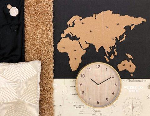 Пробковая карта мира 90х40 см