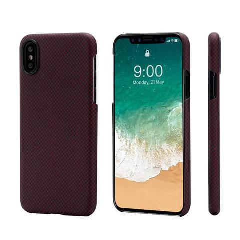 Чехол Pitaka MagCase (арамид) для Apple iPhone X (Black/Red Plain)