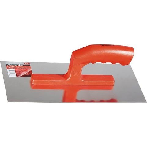 Гладилка из нержавеющей стали, 280 х 130 мм, пластмассовая ручка MTX