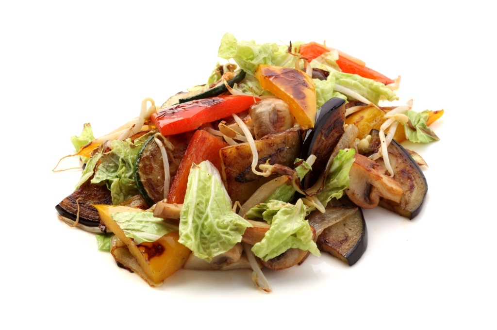 Овощи жареные с устричным соусом
