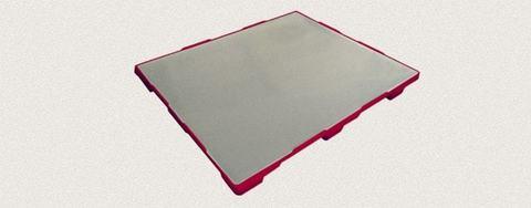 Поддон пластиковый сплошной 1200x1000x150 мм. Цвет: Красный