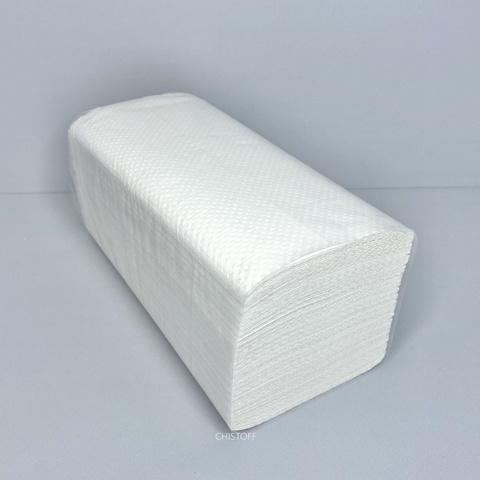 Полотенце бумажное листовое Papero V сложения 1сл. 210х220 мм (200 л.) белое (RV039)
