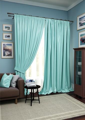 Комплект штор Авери с тюлем голубой