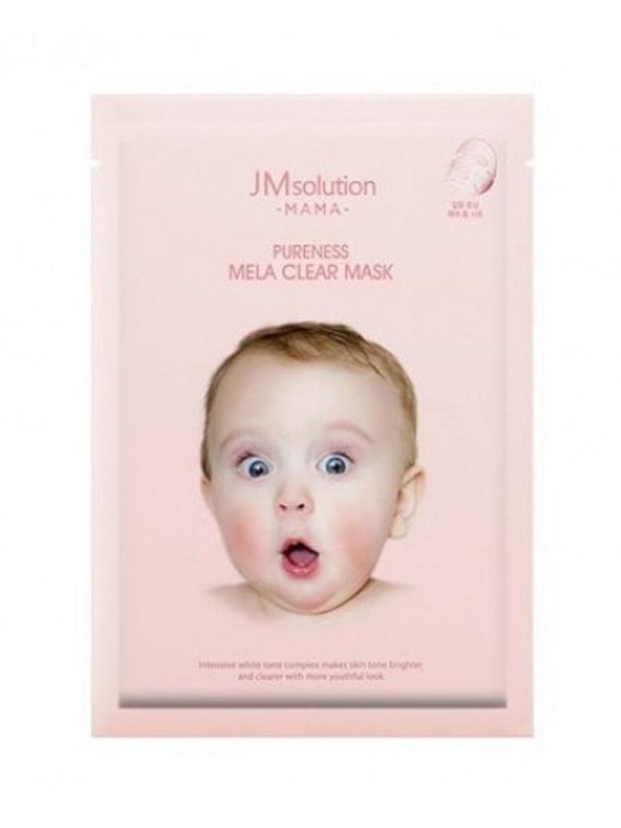 Маска JMSolution Mama Pureness Mela Clear Mask для выравнивания тона кожи