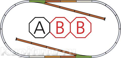 PIKO 55310+55310 Рельсовый набор ABB