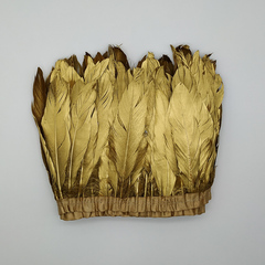 Тесьма из перьев гуся ок. 15-20 см., золотой