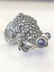 Жаба (кольцо из серебра)
