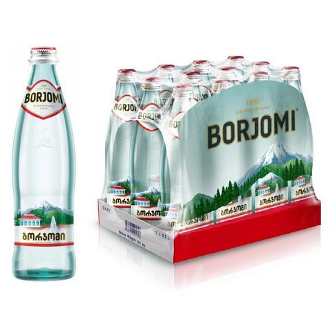 Вода минеральная Боржоми газированная 0.5 л (12 штук в упаковке)