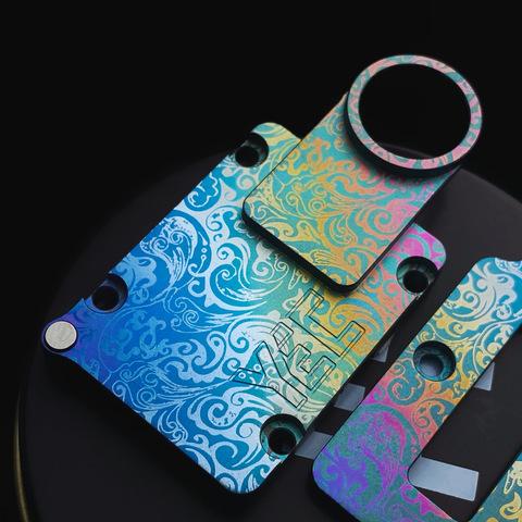 Anodized Titanium Inner Plate by YEC Studio