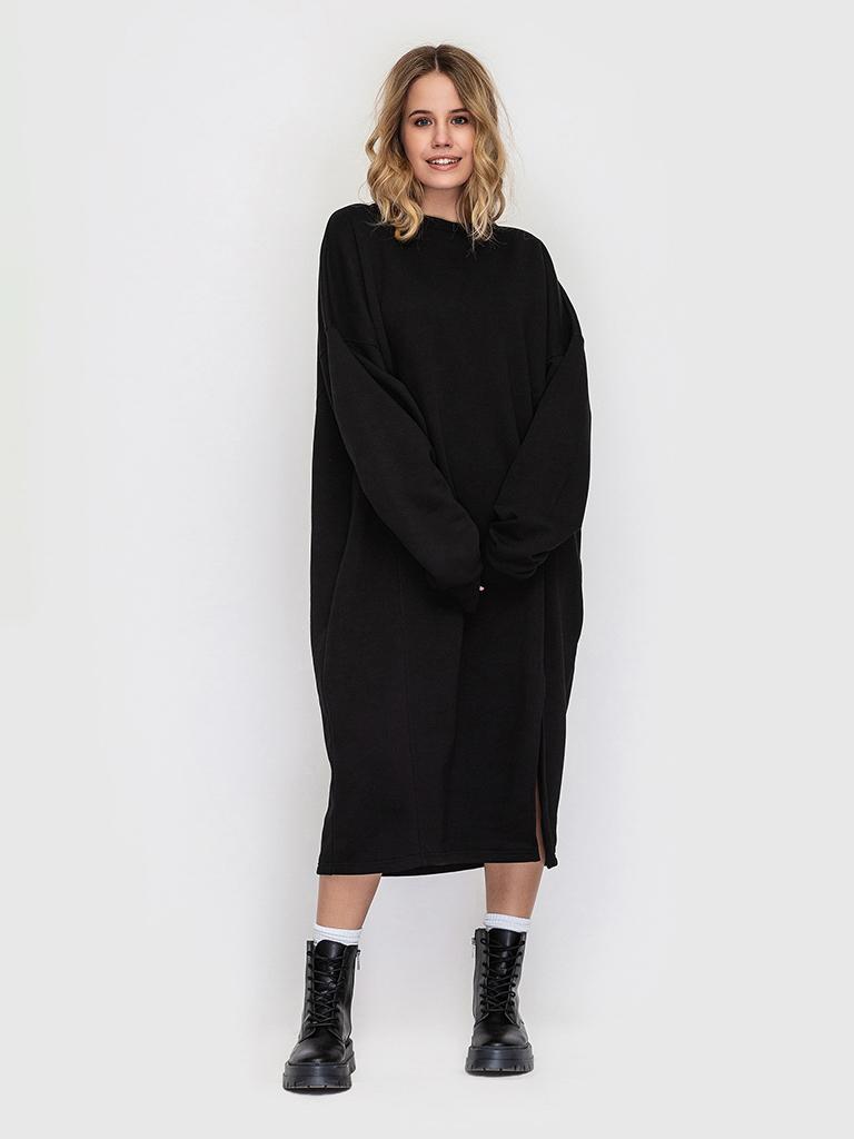 Платье трикотажное черное YOS от украинского бренда Your Own Style