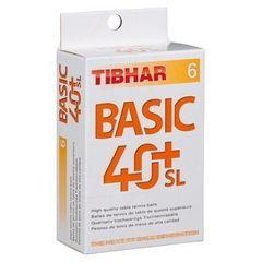 Пластиковые мячи TIBHAR Basic 40+ SL (6 шт.)