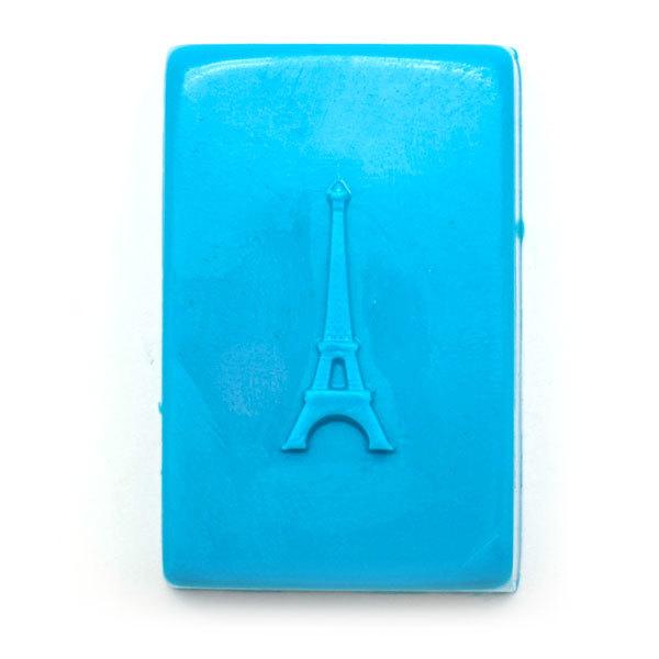 Форма для мыла Эйфелева башня на прямоугольнике. Результат