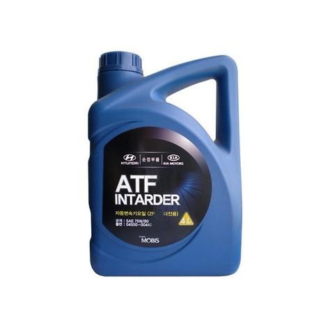 HYUNDAI ATF INTARDER 75W80 Жидкость трансмиссионная АКПП (пластик/Корея)