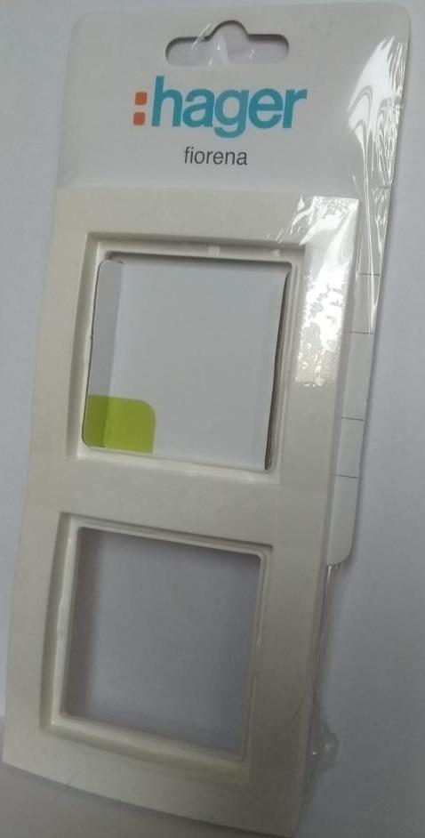 арт. 22011712 Рамка двойная, цвет-белый