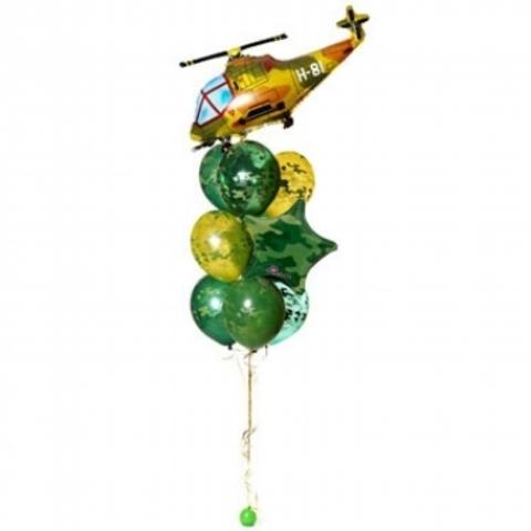 Фонтан из шаров Военный вертолет