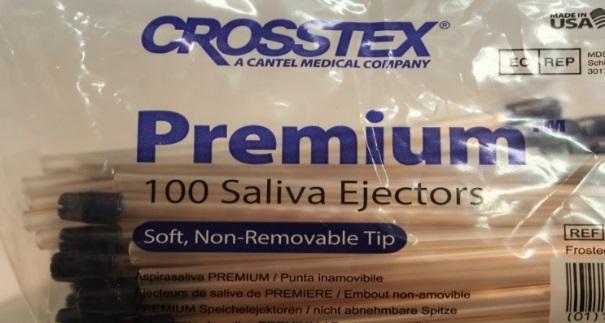 Наконечники для слюноотсосов Crosstex Premium Plus Saliva Ejector (Голубые)