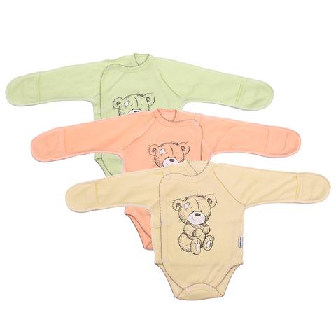 Боди-распашока с царапками новорожденным (0-3) 201029-А8004