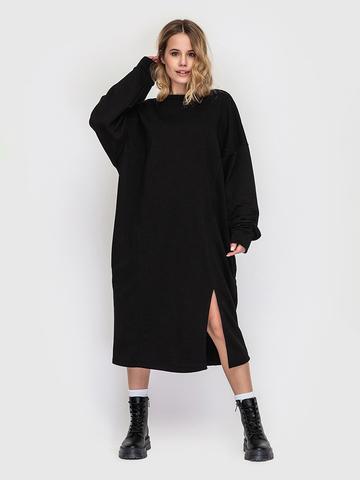 Платье трикотажное черное YOS