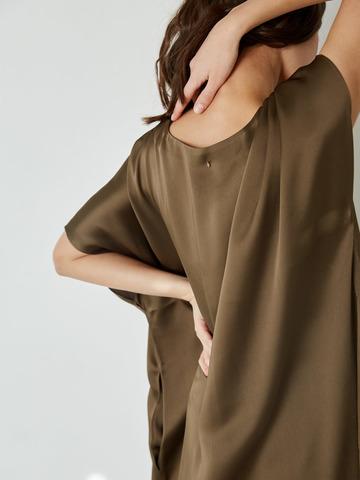 Платье из вискозы Хаки